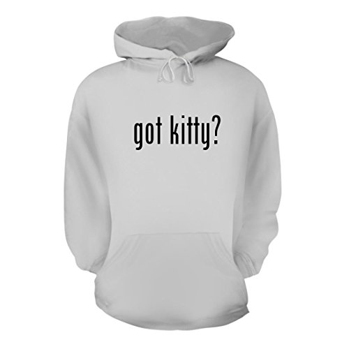 White Kitty Hoodie Hat (got kitty? - A Nice Men's Hoodie Hooded Sweatshirt, White, Small)