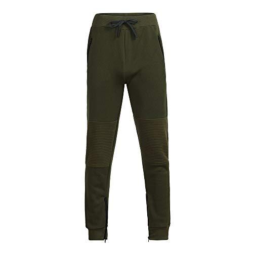De Automne Pants Pour Hommes Patchwork Vert Ihaza Jogging Hiver Pantalon Zipper Drawstring 7RnHnZ