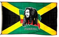 Bob Marley Freedom Jamaica Large 3 X 5 Feet Picture Flag Banner .. Great Quality ... New - Bob Marley Flags