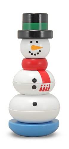 - Melissa & Doug Snowman Stacker Wooden Toddler Toy (8 pcs)