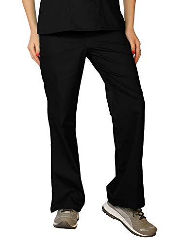 LifeThreads Classic Collection Women's Elastic Back Scrub Pant Black L