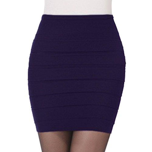 Fonce Jupe Femme Elastique Grand Hee jupe Mini Bleu wB4q0Af1x