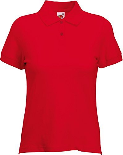 Fruit of the Loom Classic Poloshirt L,Red