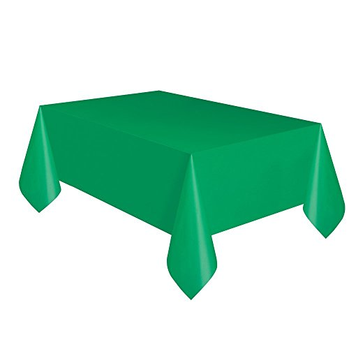 - Creative Converting Touch of Color Plastic Table Cover, 54 by 108-Inch, Emerald Green