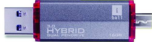 iBall Hybrid Mini 3.0 16  GB Dual USB Pen Drive  Black