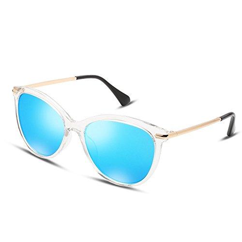 Redonda Sol Lentes Frame TL Clear ultraligeras Eye Sunglasses Gafas Rosa de Cat Blue Steampunk q0wBwRt