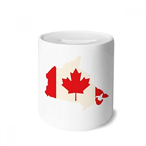 DIYthinker Red Maple Leaf Symbol Canada Country Flag Money Box Saving Banks Ceramic Coin Case Kids Adults