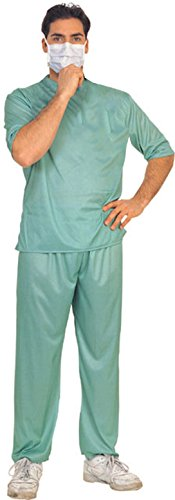 [Rubie's Costume Men's Emergency Room Surgeon Costume, Green, One Size] (Emergency Services Fancy Dress Costumes)