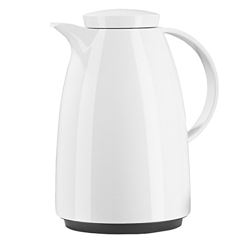 Emsa Auberge Vacuum Jug SV 1.5 L White, Tea, Coffee Jug, Thermos Flask, 622151200 (Best Thermos Flask Uk)