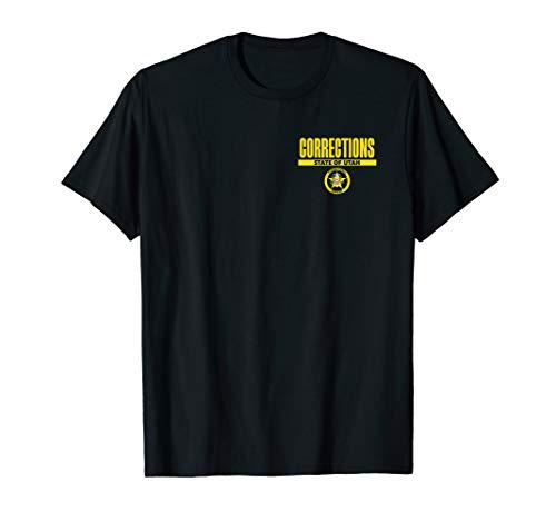 Utah Correctional Officer Thin Gray Line Flag T-Shirt]()