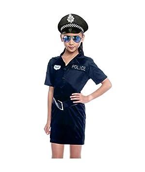 Disfraz Policía Agente Niña - Profesiones Carnaval (5-6 años) (+ ...