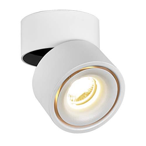 LANBOS luz de techo LED Lámpara de pared – luz de techo y pared, Led Downlight,Focos para el techo, luz blanca cálida…