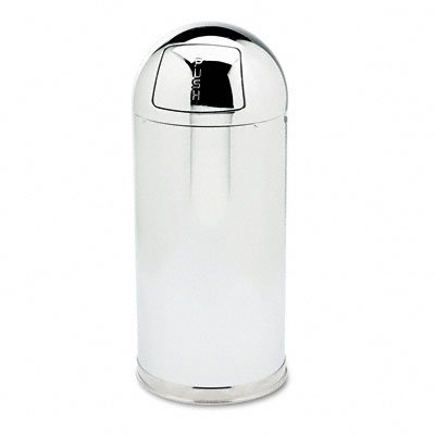 RCPR1536MCGL Fire-Resistant Dome Receptacle, Round, Steel, 15 gal, Mirror Stainless by RCPR1536MCGL