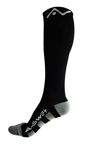 A-Swift Compression Socks, Black, Small