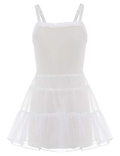 - Danna Belle Little Girls White Stretch Lace Slip (White, 6-7 Yrs)