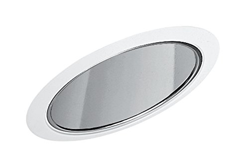 Juno Lighting Group 620C-WH Cone Standard Slope Recessed Trim with Clear Alzak and White Trim, (Alzak Cone Recessed Trim)