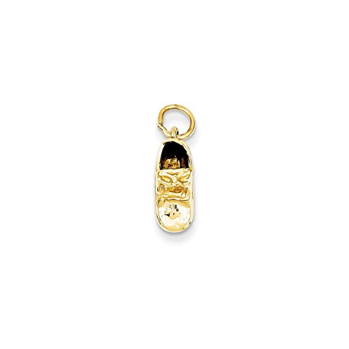 ICE CARATS 14kt Yellow Gold Single Baby Shoe Pendant Charm Necklace Fine Jewelry Ideal Gifts For Women Gift Set From Heart 14kt Gold Baby Shoe Jewelry