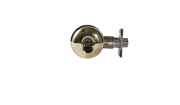 Pack of 1 Arrow Lock MK Series Bright Brass Entrance//Office Interchangeable Core Cylindrical Lockset with Tudor TA Knob