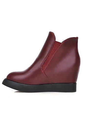 YHJUI XZZ Damenschuhe Stiefel - Stiefel Damenschuhe - Kleid Lässig - Vlies - Plateau - Plateau Modische Stiefel - Schwarz Rot Weiß 91c8f6