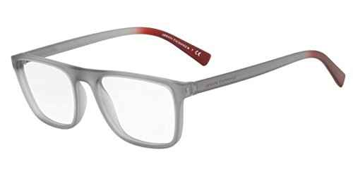 (Eyeglasses Exchange Armani AX 3054 8260 MATTE TRANSP SMOKE)
