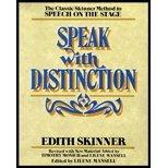 Speak With Distinction (REV 90) by Skinner, Edith - Mansell, Lilene [Paperback (2000)]