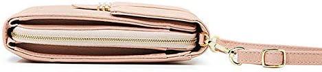 女性フェイクレザーマルチポケットショルダーバッグ5.5インチクロスボディ電話バッグ YZUEYT
