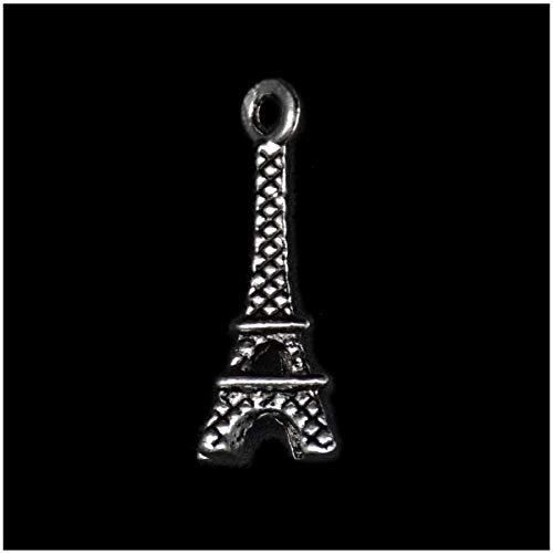 Pack of 80 Eiffel Tower Charms Pendants Silver Craft Supplies for Jewelry Making Tibetan Accessories for Bracelets Necklace DIY