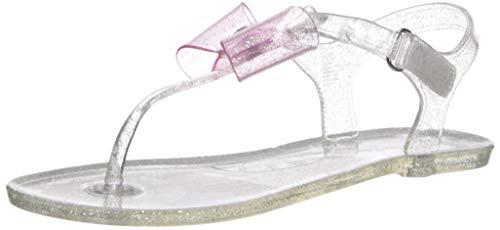 carter's Girl's Selena T-Strap Jelly Sandal, Clear, 3 M US Little Kid