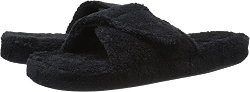 ACORN Women's Spa II Slide Slipper, Black, Medium/6.5-7.5 M US A10155