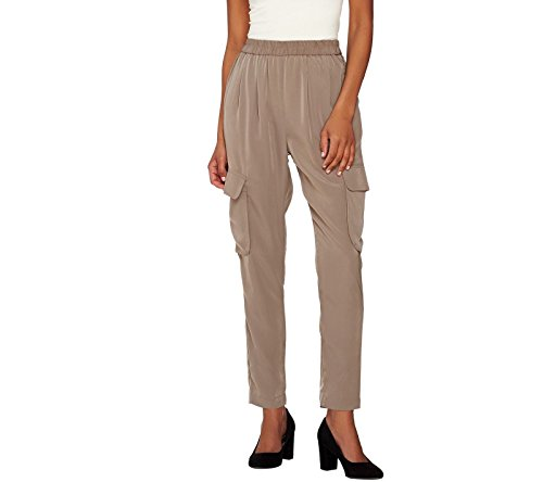 Lisa Rinna Collection Straight Leg Pull On Cargo Pants A273520  Walnut  Xs