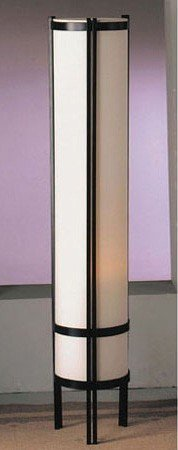 Acme Furniture Floor Lamp with Japanese Style Finish, Off White