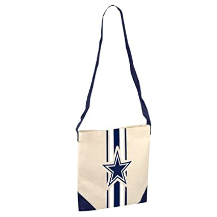 43181df1ebd Image Unavailable. Image not available for. Color: Dallas Cowboys NFL  Canvas Striped Tote Bag