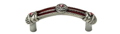 carpe-diem-hardware-435-11rr-vortice-3-inch-center-pull-with-ruby-red-glaze-satin