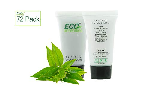 ECO AMENITIES Transparent Tube Screw Cap Individually Wrapped 22ml Body Lotion, 72 Tubes per Case ()