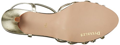 Metallic Gold Sandal Lexi Inc Womens Dyeables Dress xCYw818q