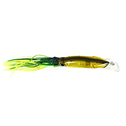 - bjlongyi 14cm Fishing Lures Artificial Squid Hard Baits Tentacles Sharp Hook Tackle Tool - B