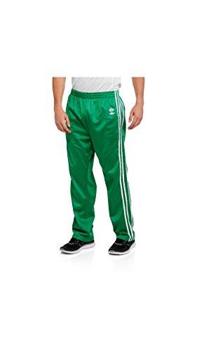 (Four Cast Men's Side Stripe Tricot Track Pants (Medium, Hunter Green))