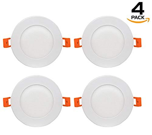 Westgate Lighting 9W 4'' Inch Ultra Thin Slim LED Recessed Light - Dimmable Retrofit Downlight Smooth Trim - Junction Box Included - No Housing Required - Ceiling Lights (4 Pack, 4000K Neutral White) by Westgate (Image #10)