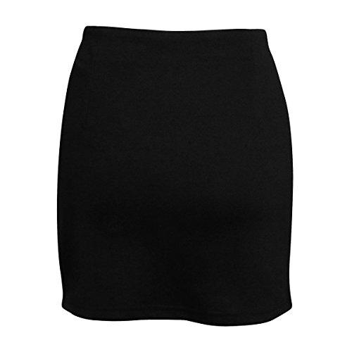Mena UK Mujer Atractivo Cortar De Cintura Alta Vendaje Tramo Bodycon Lápiz Mini Falda Negro