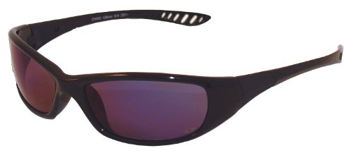 Jackson 3013858 KC 20543 HellRaiser Safety Glasses - Black Frame - Blue Mirror - Blue Sunglasses Tint