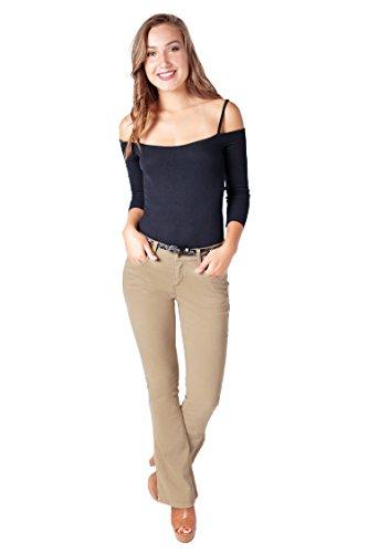 Womens Bootcut Khaki Pants - 3