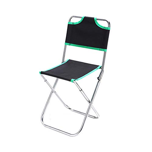 JinJin Camping Chairs Portable Compact Camping Folding Mesh Chair Portable Folding Camping Director Fishing Outdoor BBQ Beach Seat (Green)
