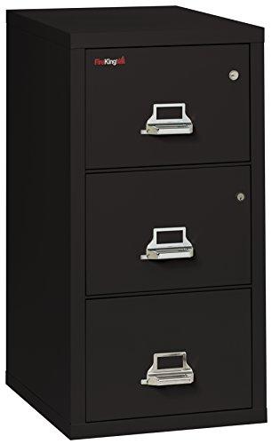 FireKing Legal Safe-in-A-File Fireproof Vertical File Cabinet (2 Drawers, Impact Resistant, Waterproof), Black