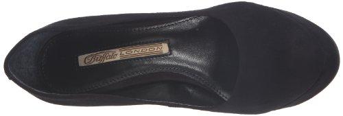 Buffalo London 19952-886 NAPPA - Zapatos de tacón de cuero mujer negro - Schwarz (Kid suede black)
