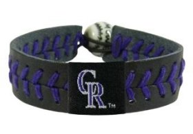 Colorado Rockies Baseball Bracelet - Team Color Style ()