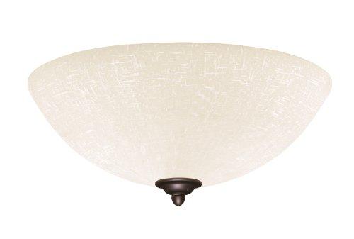 Emerson Ceiling Fans LK83ORB White Linen Light Fixture for Ceiling Fans, Medium Base CFL