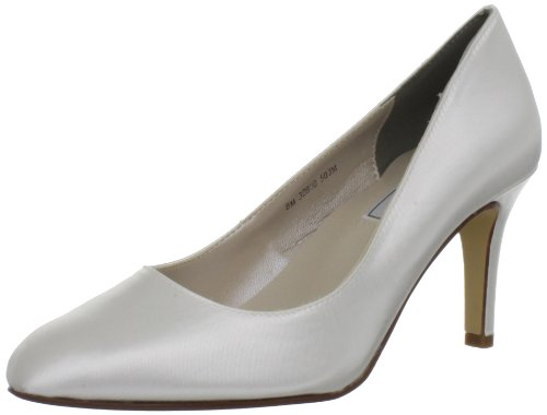 Touch Ups Women's Sandra Pump,White Satin,8 M US ()