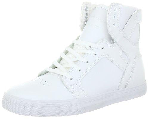 Supra KIDS SKYTOP S13002K - Zapatillas de cuero para niños Blanco