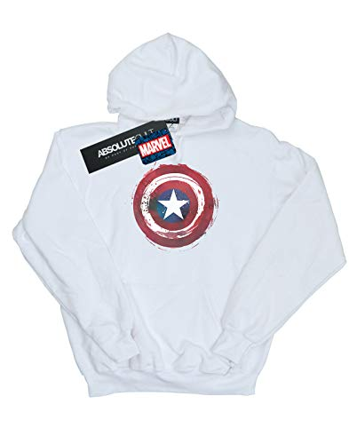 Marvel Sweat Captain Shield America À Femme Blanc Splatter Capuche fwrSqUf7X
