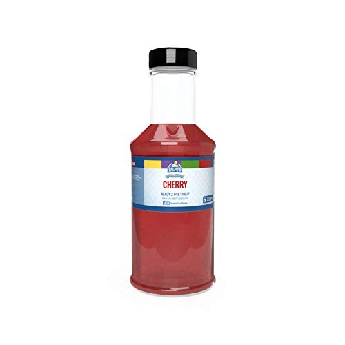 (Ralph's Red Cherry Snow Cone Syrup   16oz (Pint)   Made With Pure Sugar   Easy Pour & Store Flip Cap Included (Pre-Attached))